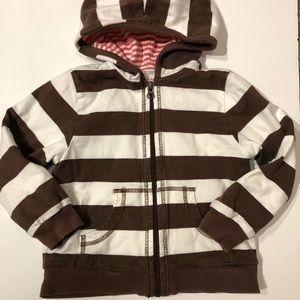 Hanna Andersson 100(4) striped zip hoodie